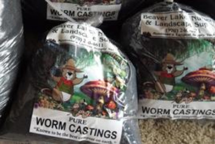 earth worm castings for organic fertilizer use